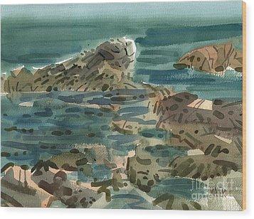 Irish Sea Wood Print by Donald Maier