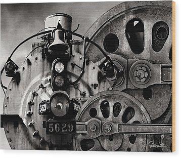 Iron Circles No. 1 Wood Print by Joe Bonita