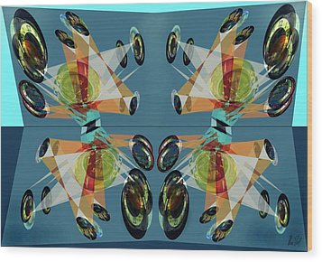Irregular Mirrored Watches Wood Print by Helmut Rottler