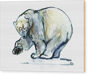 Isbjorn Wood Print by Mark Adlington