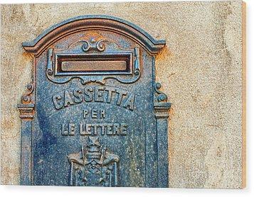 Italian Mailbox Wood Print by Silvia Ganora