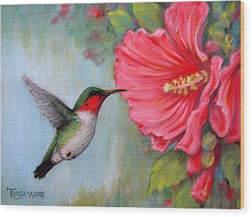 It's Hummer Time Wood Print by Tanja Ware