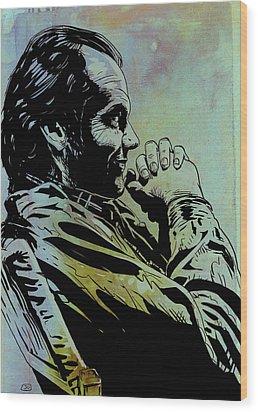 Jack Nicholson Wood Print by Giuseppe Cristiano