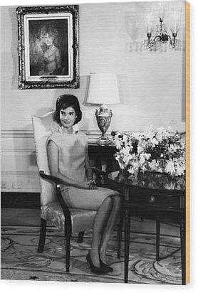 Jacqueline Kennedy, Circa. 1960s Wood Print by Everett