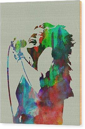 Janis Joplin Wood Print by Naxart Studio