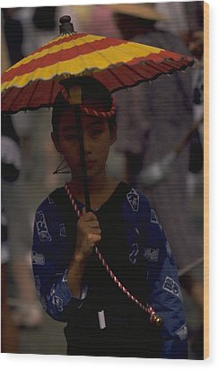 Wood Print featuring the photograph Japanese Girl by Travel Pics