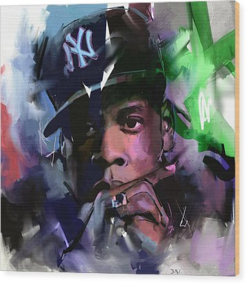 Jay Z Wood Print by Richard Day