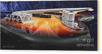 Jazz Bass Beauty Wood Print by Todd A Blanchard