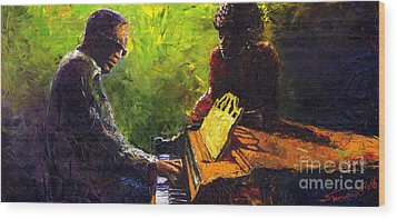 Jazz Ray Duet Wood Print by Yuriy  Shevchuk