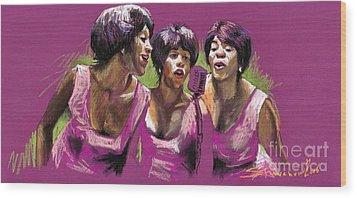 Jazz Trio Wood Print by Yuriy  Shevchuk