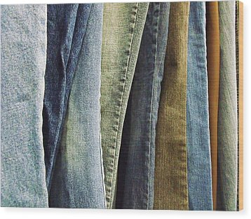 Jeans Wood Print by Anna Villarreal Garbis