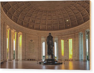 Jefferson Memorial In Morning Light Wood Print by Andrew Soundarajan