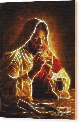 Jesus Christ Last Supper Wood Print by Pamela Johnson