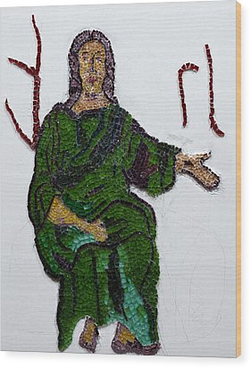 Jesus Wood Print by Emma Kinani