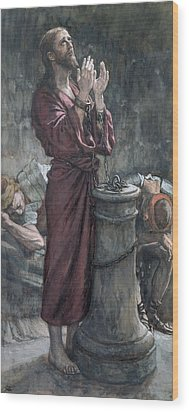 Jesus In Prison Wood Print by Tissot