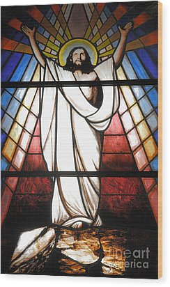 Jesus Is Our Savior Wood Print by Gaspar Avila