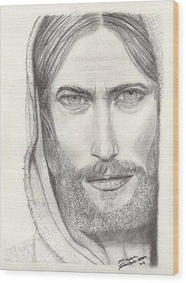Jesus Of Nazareth Wood Print by Shawn Sanderson
