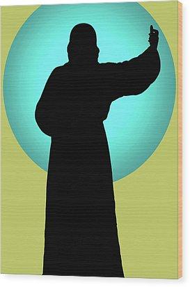 Jesus Shape No. 01 Wood Print by Ramon Labusch
