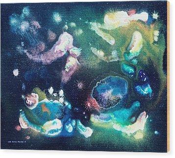 Jeweled Pegasus Wood Print by Lee Pantas