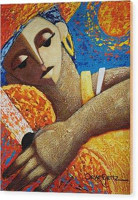 Jibara Y Sol Wood Print by Oscar Ortiz