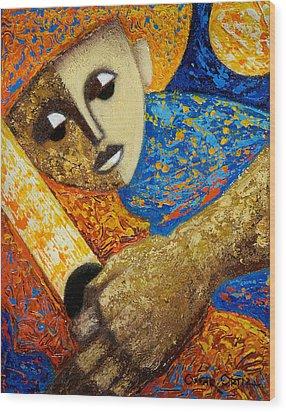 Jibaro Y Sol Wood Print by Oscar Ortiz