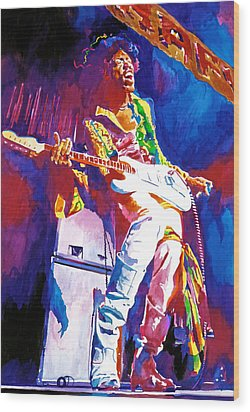 Jimi Hendrix - The Ultimate Wood Print by David Lloyd Glover