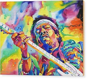 Jimi Hendrix Electric Wood Print by David Lloyd Glover