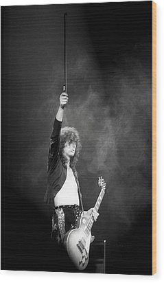 Jimmy Page 1 Wood Print by Mike Norton