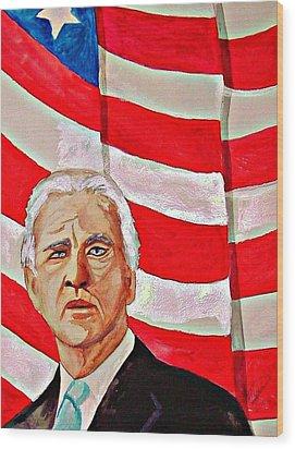 Joe Biden 2010 Wood Print by Ken Higgins