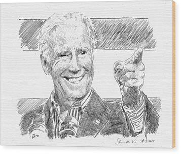 Joe Biden Wood Print by Shawn Vincelette