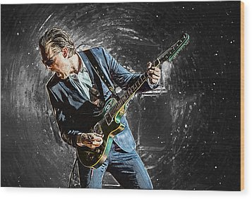 Joe Bonamassa Wood Print by Taylan Apukovska