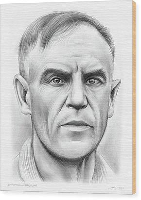 John Heisman Wood Print by Greg Joens