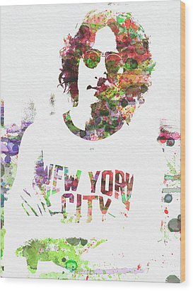 John Lennon 2 Wood Print by Naxart Studio