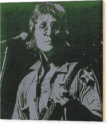 John Lennon Wood Print by David Patterson