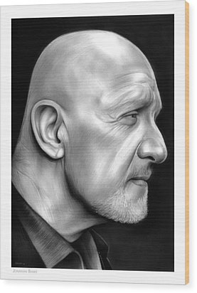 Jonathan Banks Wood Print by Greg Joens