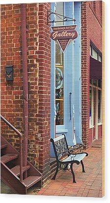 Jonesborough Tennessee Main Street Wood Print by Frank Romeo