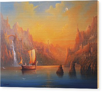 Journey To The Undying Lands Wood Print by Joe  Gilronan