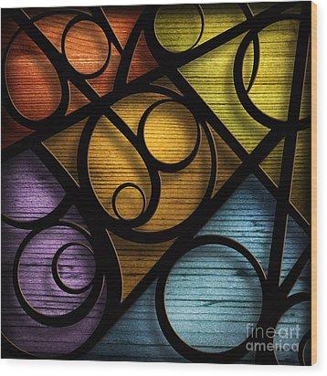 Joy-joy-joy-abstract Wood Print by Shevon Johnson