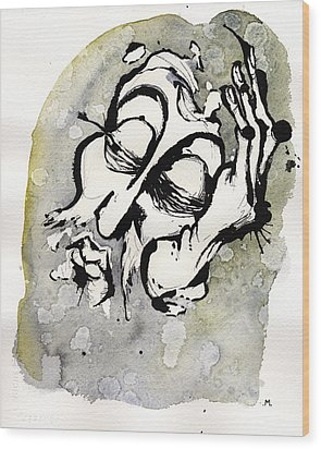 Judgment Of Zeus Wood Print by Mark M  Mellon