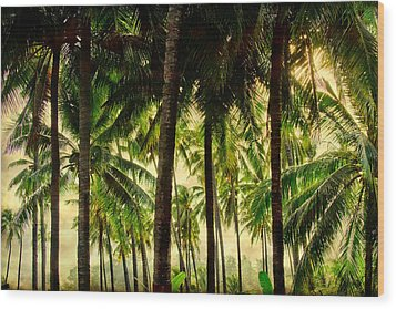 Jungle Paradise Wood Print by James BO  Insogna