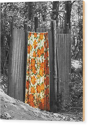 Jungle Shower Wood Print by RC Photography