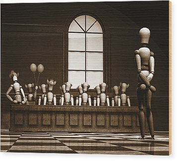 Jury Of Your Peers Wood Print by Bob Orsillo