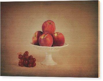 Just Peachy Wood Print by Tom Mc Nemar