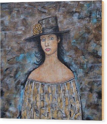 Katherine Wood Print by Rain Ririn