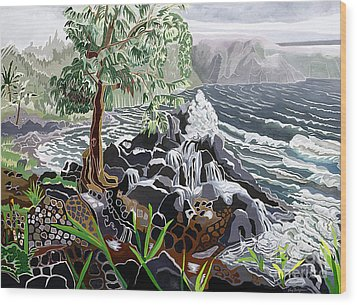 Keanae Wood Print by Fay Biegun - Printscapes