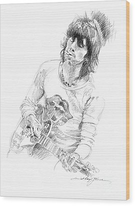 Keith Richards Exile Wood Print by David Lloyd Glover