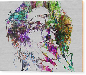 Keith Richards Wood Print by Naxart Studio