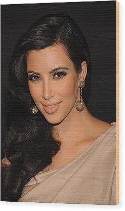 Kim Kardashian In Attendance Wood Print by Everett