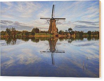 Kinderdijk Wood Print by Chad Dutson