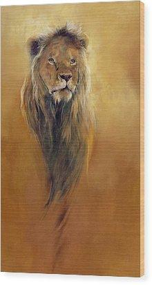 King Leo Wood Print by Odile Kidd